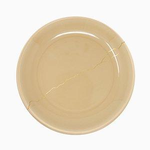 Tsukroi 1 Teller aus lackiertem Urushi Glas in Beige von Kazuyo Komoda für Hands On Design