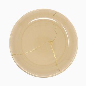 Tsukroi 3 Teller aus lackiertem Urushi Glas in Beige von Kazuyo Komoda für Hands On Design