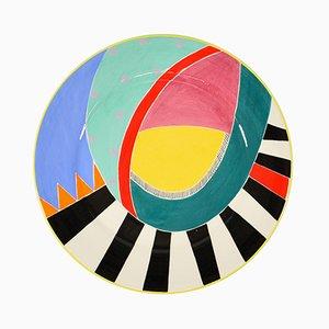 Piatto postmoderno in ceramica di Susan Eslick, 1988
