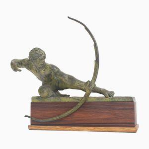 Antique Archer Sculpture by Alexandre Kelety