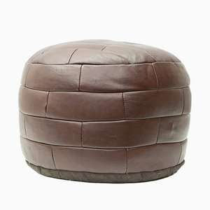 Leather Pouf, 1970s