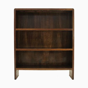 Italian Modernist Wooden Bookcase, 1940s
