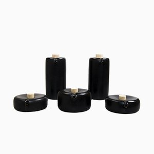 Black Bombette Arita Porcelain Dressing Set by Kanz Architetti for Hands On Design
