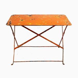 Französischer klappbarer Gartentisch, 1920er