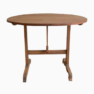 Antique Light Brown Wine Tasting Table