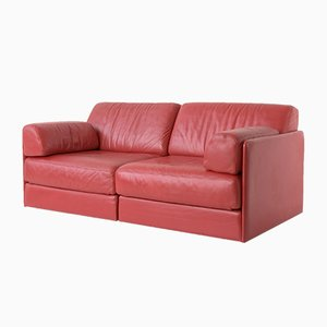 DS76 Leather Burgundy 2-Seater Sofa from de Sede, 1972