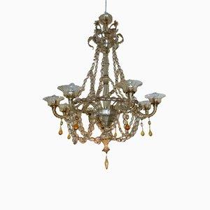 Lámpara de araña italiana de Seguso, años 20