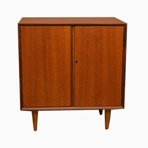 Mid-Century Teak Hi-Fi Cabinet with LP Storage