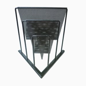 Perforated Metal Magazine Rack, 1980s