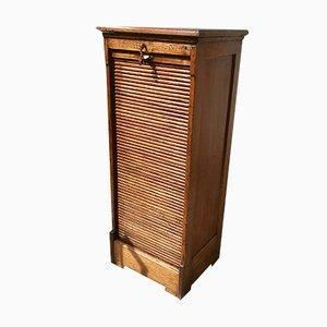 Antique Tambour Filing Cabinet