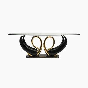 Brass Swans Coffee Table by Maison Jansen, 1970s
