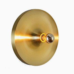 Lámpara plafón vintage dorada de Honsel