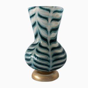 Vase en Verre Opalin et Graffito Doré par Ercole Barovier pour Barovier et Toso, 1969