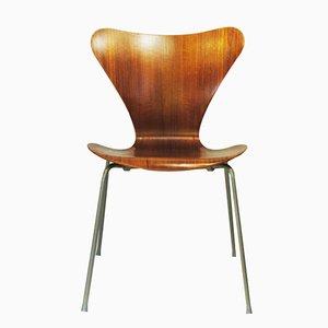 Teak 7-Series Stuhl von Arne Jacobsen für Fritz Hansen, 1960er
