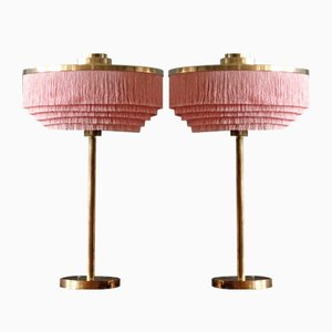 B-138 Messing Tischlampen in Rosa von Hans-Agne Jakobsson, 1960er, 2er Set