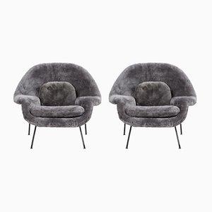 Chaises Womb Vintage par Eero Saarinen pour Knoll, Set de 2