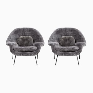 Vintage Womb Chairs by Eero Saarinen for Knoll, Set of 2