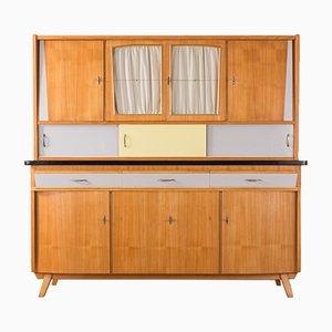 Küchenschrank mit Eschenholz Furnier 1950er