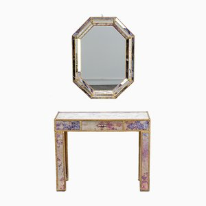 Regency Dressing Table & Mirror, 1960s