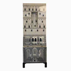 Armoire Trumeau Architettura par Piero Fornasetti pour Barnaba Fornasetti, 1970s