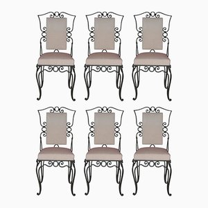 Chaises en Fer, France, 1960s, Set de 6