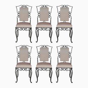 Französische Stühle aus Eisen, 1960er, 6er Set