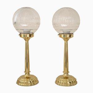 Jugendstil Tischlampen, 1900er, 2er Set