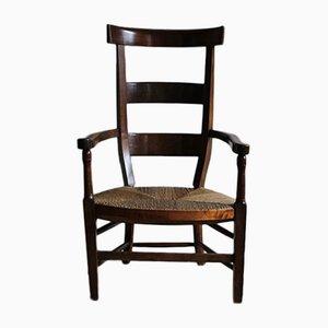 Chaise à Dossier Haut Directoire en Merisier, 1790s