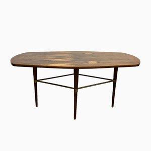 Table Basse en Laiton & Palissandre par Förenade Möbler, Suède, 1950s