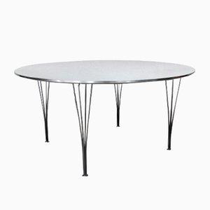 Danish Dining Table by Piet Hein for Fritz Hansen, 1960s