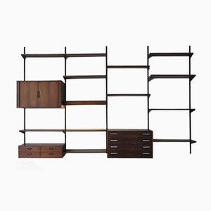 Rosewood Wall Unit by Kai Kristiansen for FM Møbler, 1950s
