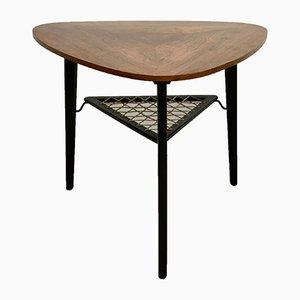 Tavolino da caffè Mid-Century triangolare in palissandro