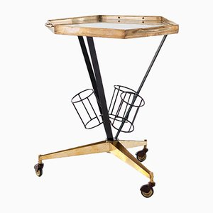 Italian Modern Bar Cart Trolley, 1950s