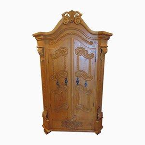 Jugendstil Kleiderschrank aus massivem Holz