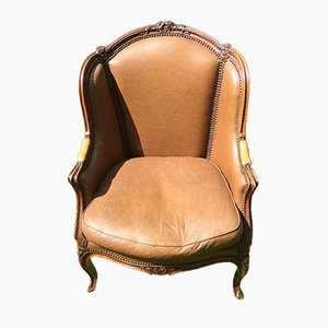 Antique Louis XV Style Wing Chair