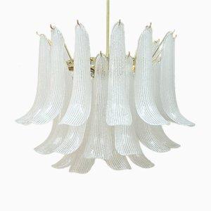 Lámpara de araña italiana Mid-Century de cristal de Murano