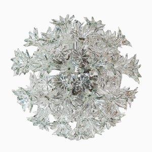 Italienische Vintage Esprit Kristallglas Deckenlampe von Toni Zuccheri für Venini