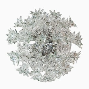 Vintage Italian Esprit Crystal Ceiling Lamp by Toni Zuccheri for Venini