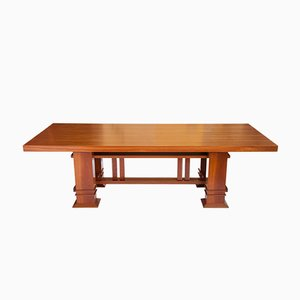 Table en Merisier Allen 605 par Frank Lloyd Wright pour Cassina, 1986