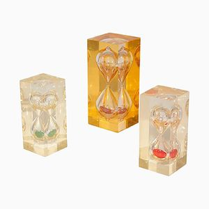 French Resin Hourglass Sculptures, 1970s, Set of 3