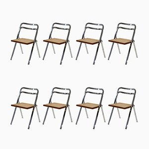 Folding Chairs by Giorgio Cattelan for Cidue, 1970s, Set of 8