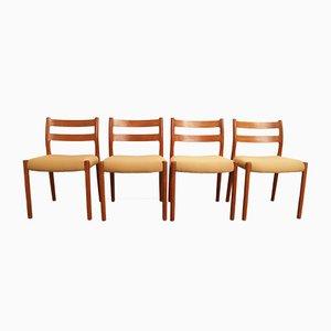 Chaises de Salle à Manger No. 84 par Niels Otto Møller pour J L Møller, 1970s, Set de 4