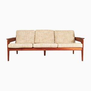 Canapé Vintage 3-Places en Teck par Arne Wahl Iversen pour Komfort, Danemark