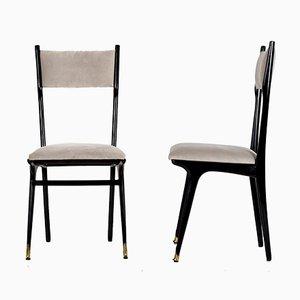 Esszimmerstühle mit hoher Rückenlehne von Ico Parisi, 1950er, 6er Set