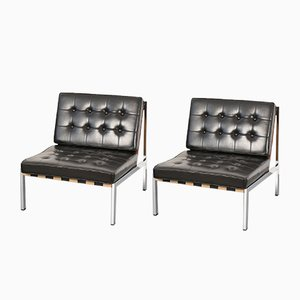 Leather Easy Chairs by Ernst Josef Althoff, 1960s, Set of 2