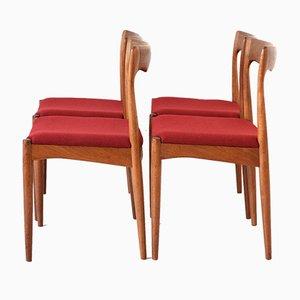 Chaises de Salle à Manger par Arne Vodder, 1960s, Set de 4