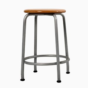 Stool from Basler Eisenmöbelfabrik Sissach, 1950s