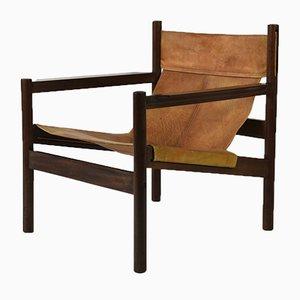 Dänischer Sessel mit Gestell aus Teak von Mogen Skold, 1960er
