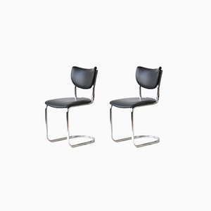 Dutch Cantilever Chairs from Gispen, 1950s, Set of 2
