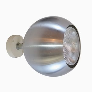 Model 7171 Brushed Aluminum Wall Lamp from Erco, 1970s
